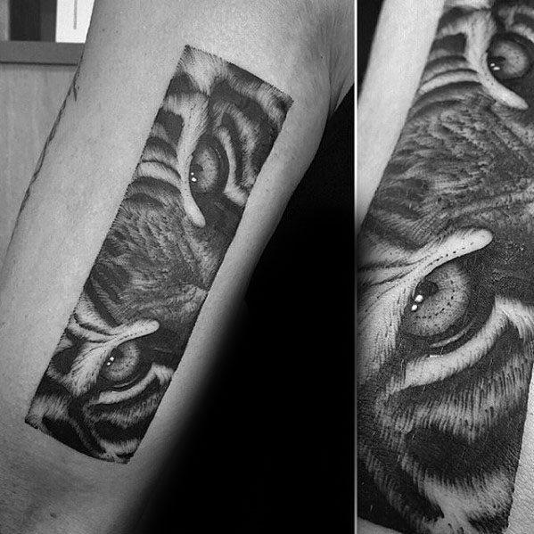 Tiger Eyes Tattoos For Gentlemen