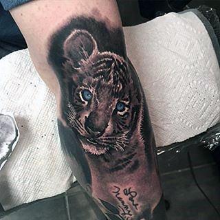 Tiger Face Tattoos Men