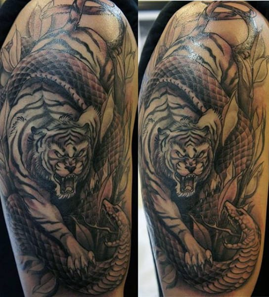 Tiger Men's Tattoos For Guys