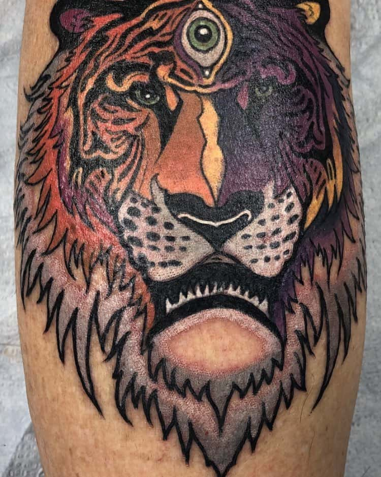 Tiger Third Eye Tattoo