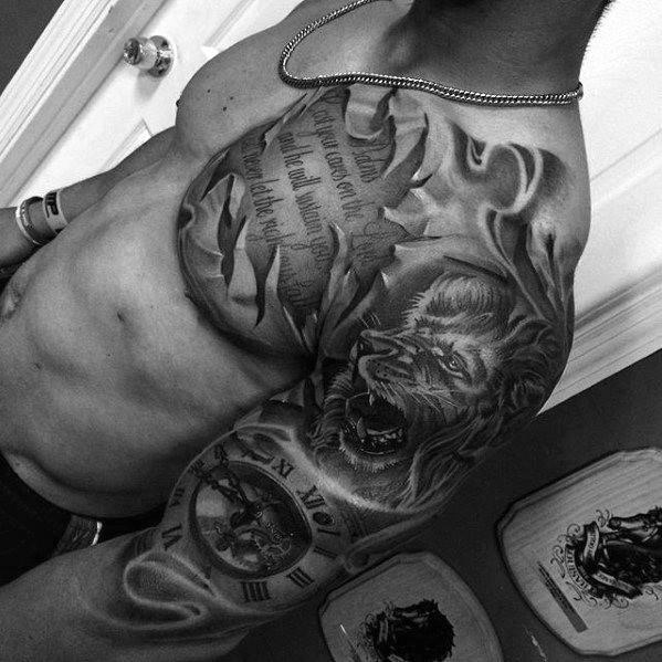 Tattoo Quotes Lion: Top 70 Coolest Tattoos For Men