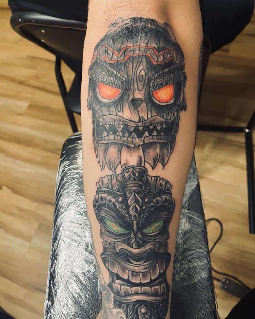 Tiki Mask Tiki Tattoo Andy Tattoo94