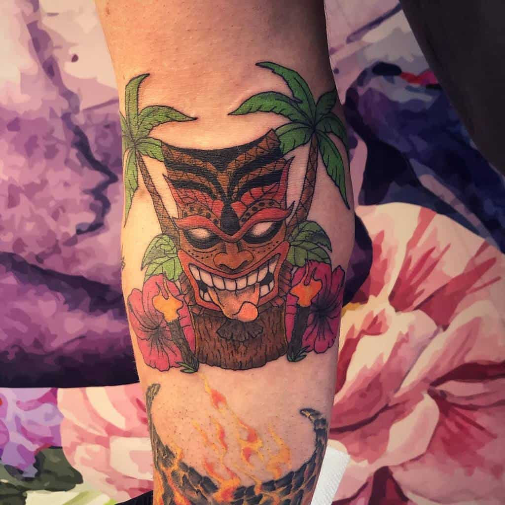 Tiki Mask Tiki Tattoo Jane Taylor Tattoo