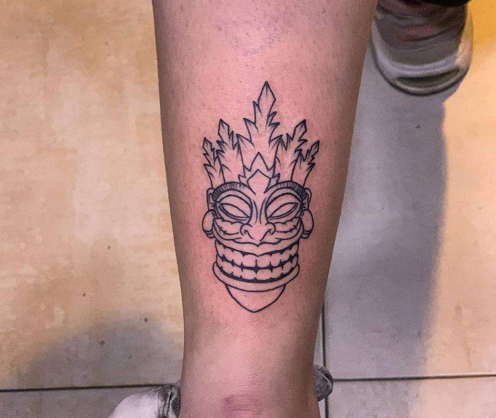 Tiki Mask Tiki Tattoo P.inkkkkkk