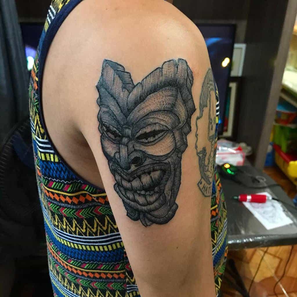 Tiki Mask Tiki Tattoo Senyordosmanuel