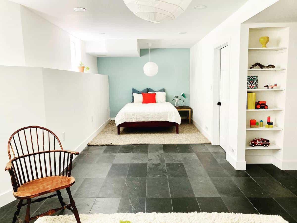 tile basement floor ideas evabeeinteriordesign