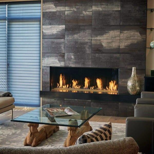 Tile Modern Fireplace Design