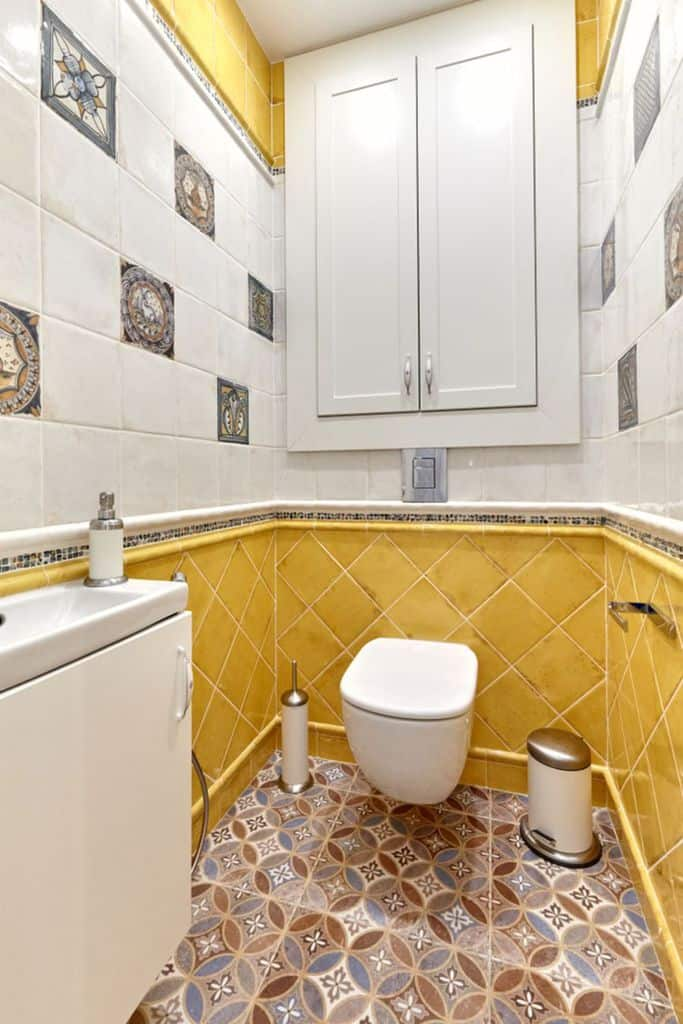 Tile Small Powder Room Ideas 1