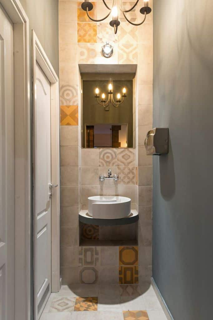 Tile Small Powder Room Ideas 3
