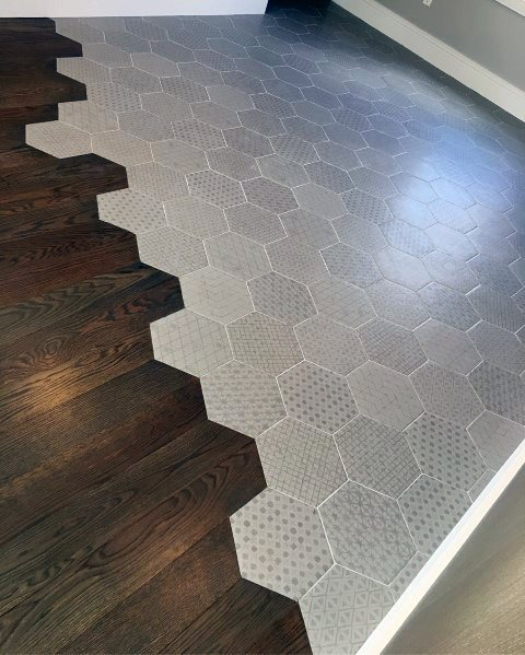 Tile To Hardwood Flooring Transition Interior Ideas