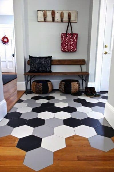 Tile To Wood Floor Transition Ideas Inspiration For Mudroom