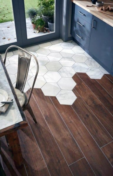 Tile To Wood Floor Transition Interior Ideas Kitchens