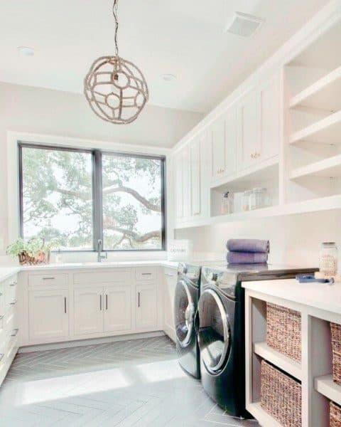 Tiled Laundry Room Ideass