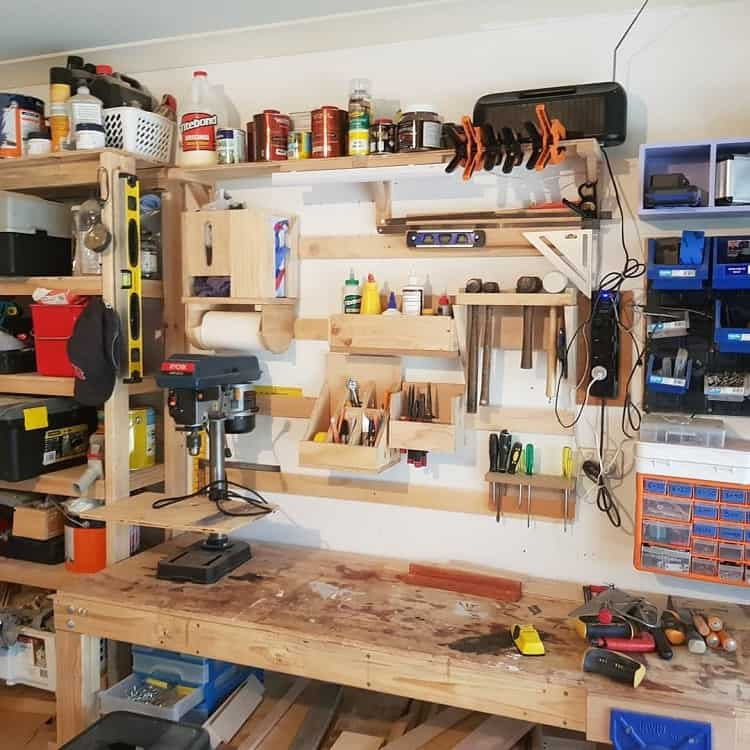 Timber Wooden Garage Shelves Jolleydiy
