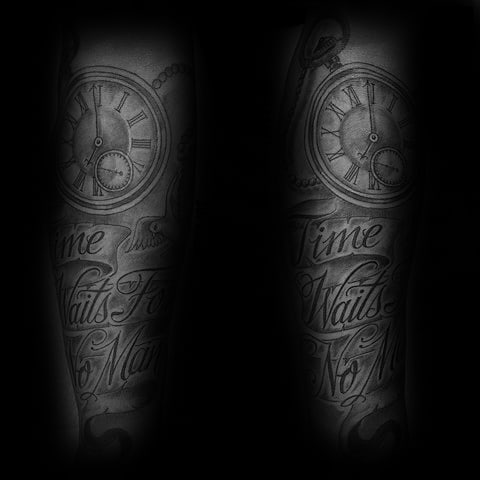 Time Waits For No Man Guys Tattoo Ideas