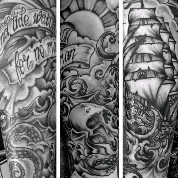Tattoo Quotes Time: 40 Time Waits For No Man Tattoo Designs For Men