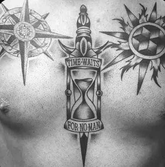 40 Time Waits For No Man Tattoo Designs For Men – Quote Ink Ideas