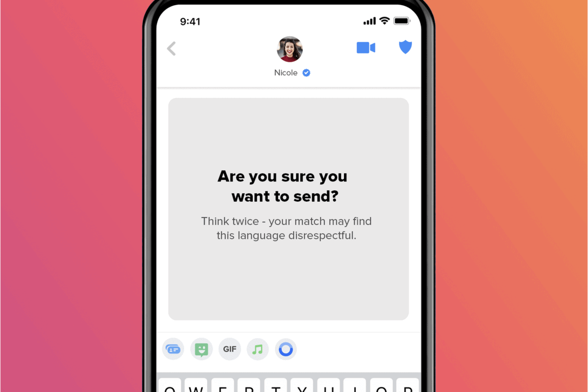 Tinder Launches 'Are You Sure?' Feature to Combat Naughty Messages