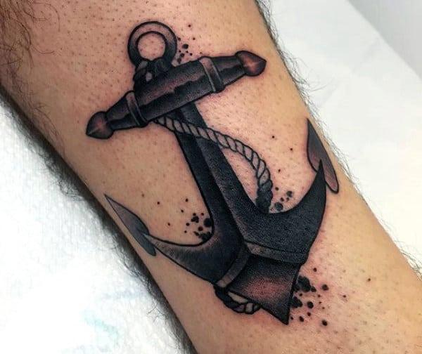 Tiny Anchor Tattoo For Men