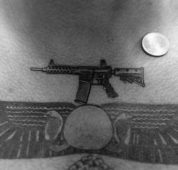 Tiny Ar 15 Themed Tattoo Design Inspiration