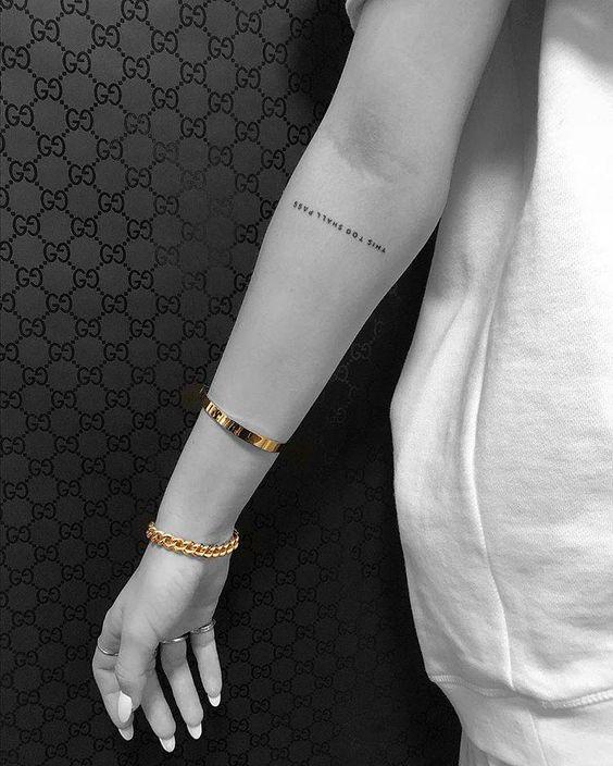 Tiny Art Tattoo