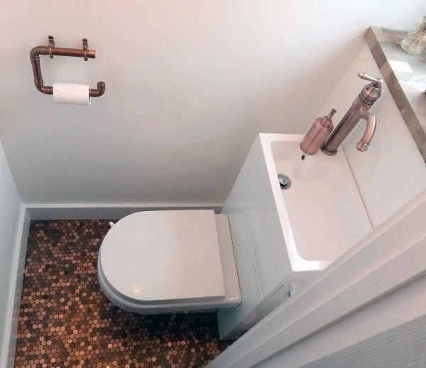 Tiny Bathroom Penny Floors