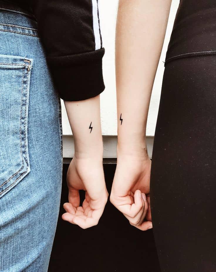 Tiny Cute Friendship Tattoo