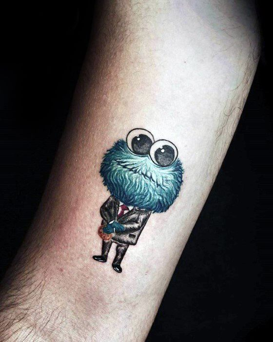30 cookie monster tattoo designs for men muppet ink ideas for Monster tattoo designs