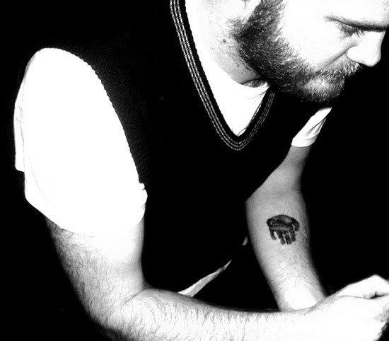 Tiny Mens Handprint Inner Forearm Tattoo Design Ideas
