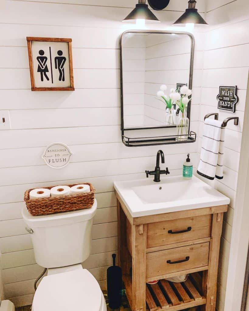 Tiny Powder Room Bathroom Ideas Close With Mary