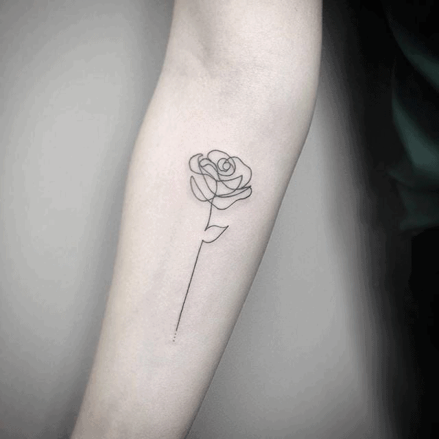 Tiny Rose Tattoo Beauty And The Beast