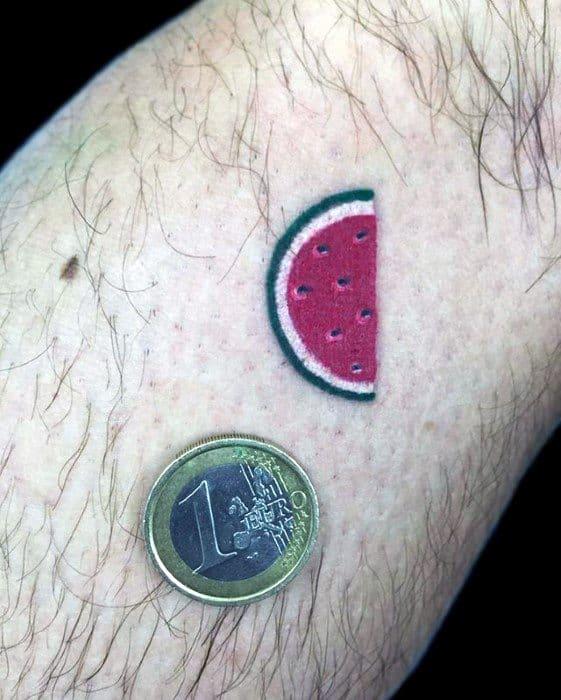 Tiny Simple Forearm Mens Cool Watermelon Tattoo Ideas
