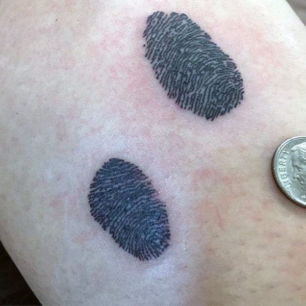 Tiny Small Male Fingerprint Tattoo Designs