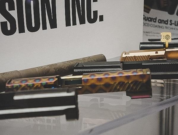 Titanium Case Hardended Pattern Pistol Slide
