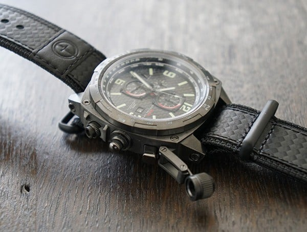 Titanium Case Mtm Special Ops Cobra Watch With Locking Crown