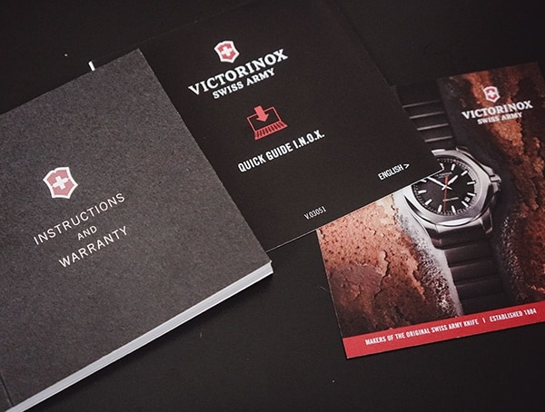 Titanium Victorinox Inox Watch Product Manual