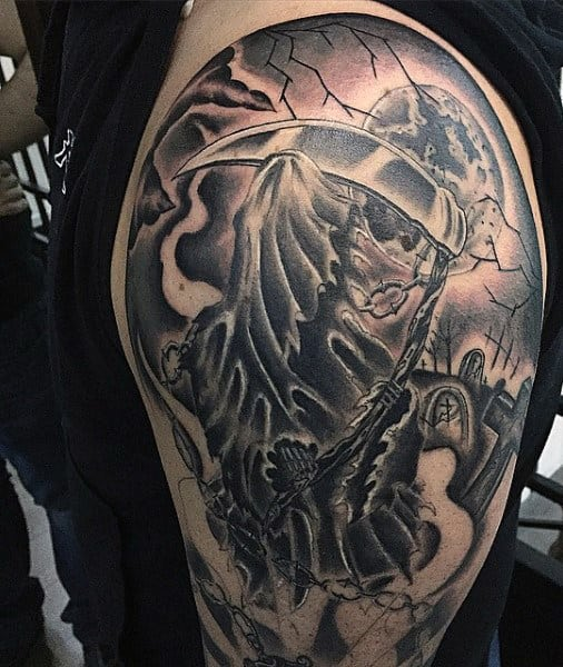 To The Grave Tattoo For Males