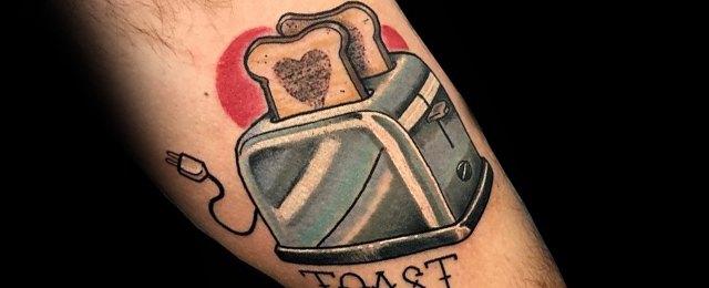 Toast Tattoo Ideas For Men