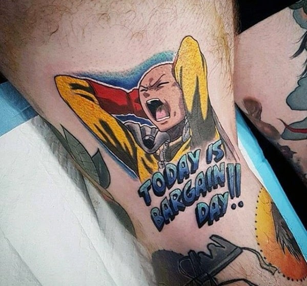 Today Is Bargin Day One Piece Anime Tattoos Men On Thigh