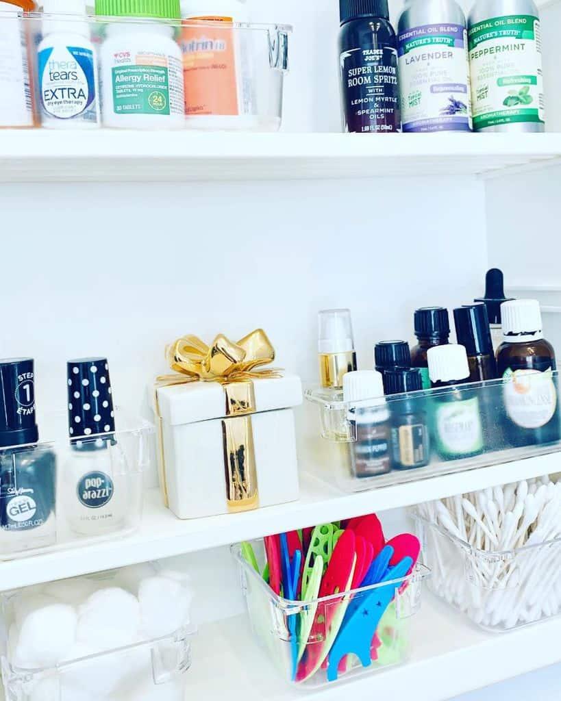 Toiletries And Supplies Storage Dispenser Bathroom Organization Ideas Homepuzzledecor