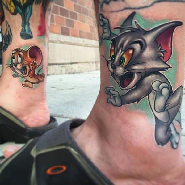 Tom And Jerry Tattoo Designs For Guys