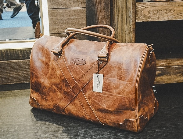 Tom Beckbe Leather Mens Weekender Bag