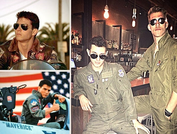 tom cruise top gun maverick and goose best halloween costumes for men