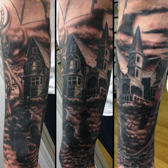Tombstones Graveyard Tattoo For Guys