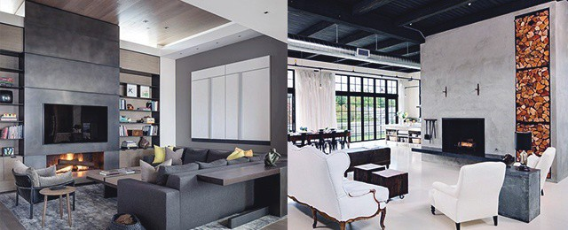 Top 60 Best Concrete Fireplace Designs – Minimalistic Interior Ideas