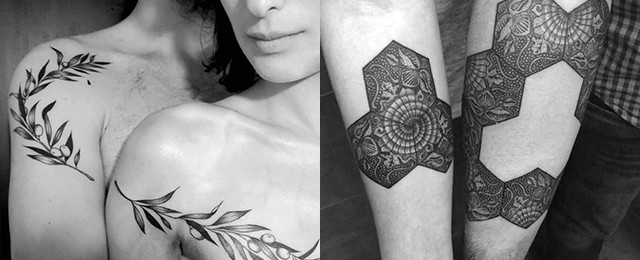 Top Best Matching Couple Tattoos Design Ideas
