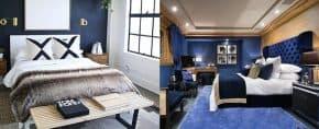 Top 50 Best Navy Blue Bedroom Design Ideas – Calming Wall Colors