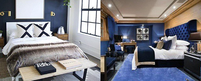 Navy Blue Bedroom Design Ideas