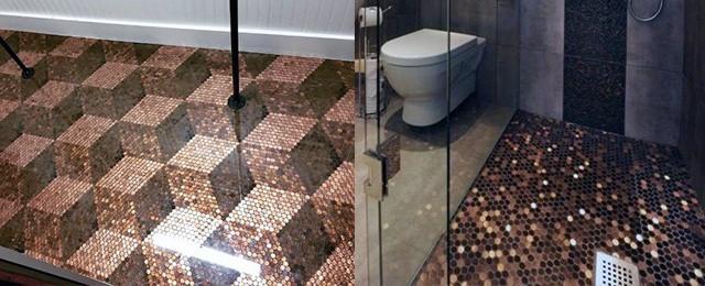 Top 60 Best Penny Floor Design Ideas – Copper Coin Flooring