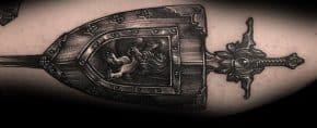 Top 70 Best Shield Tattoo Design Ideas For Men – Armor Body Art